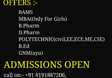 ADMISSIONS OPEN 2018-19