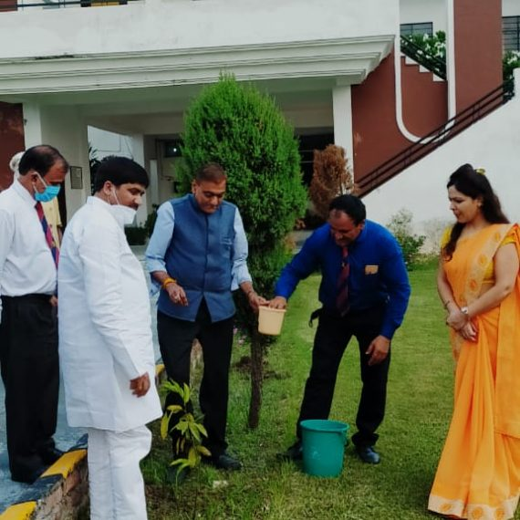 Plantation at Om Group of Colleges by Vice Chancellor, Uttarakhand Technical University